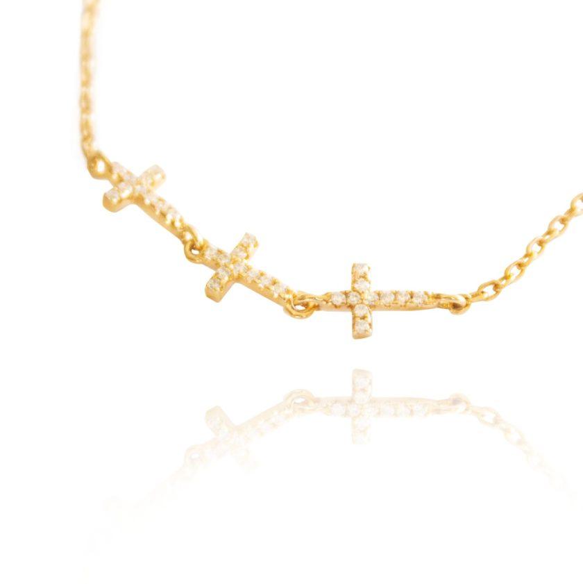 Pulseira Crucifixo Ouro