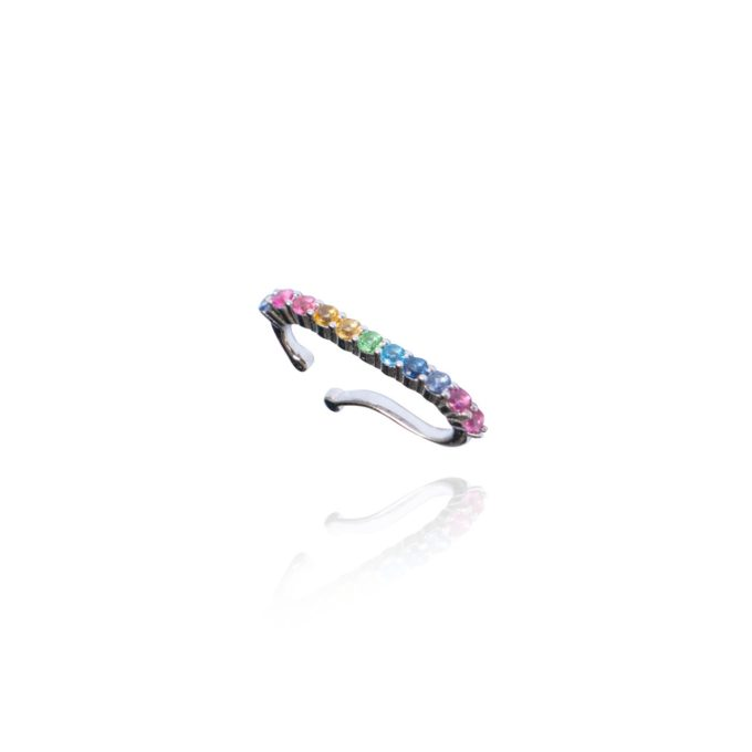 Ear Hook Rainbow Prata