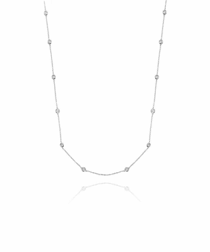 Colar Tiffany Inspired 80cm Prata