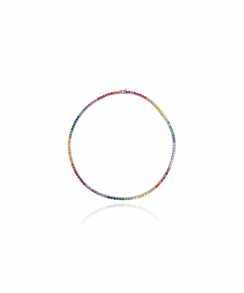 Colar Riviera Rainbow Prata